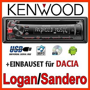 Dacia logan sandero &kenwood kDC - 164 uR autoradio cD/mP3/uSB avec kit de montage