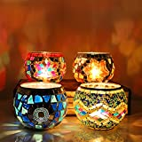 癒しの光 キャンドル グラス キャンドルカップ 6個付 (ガラス, ブルー)