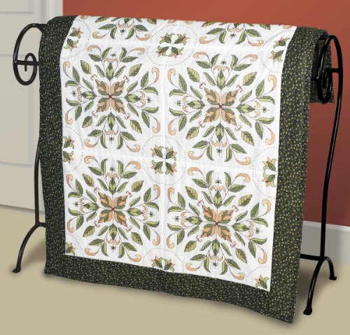 Janlynn Antique Foliage Quilt Blocks Stamped Cross Stitch-15 by 15-Inch, 6 Per Package