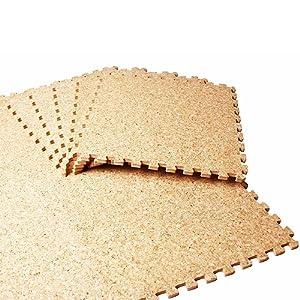 コルクマット/ジョイント式 [大粒タイプ] [ジョイント形状 type-A] 30cm×30cm 108枚/6畳セット