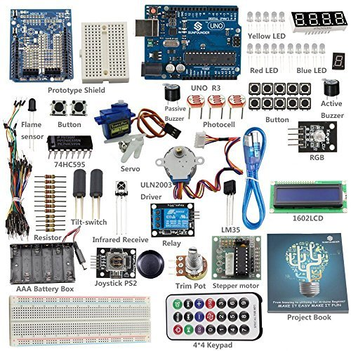 sunfounder-starter-learning-kit-for-arduino-beginner-from-knowing-to-utilizing-including-82-page-ins