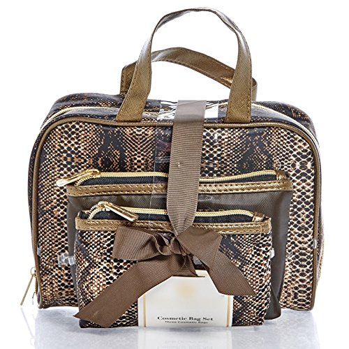 adrienne-vittadini-3-piece-cosmetic-bag-gift-set-chic-style-cosmetic-cases-python