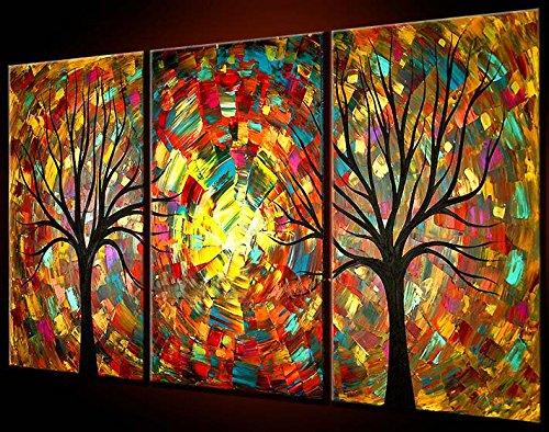 Santin Art Light of Life Framed Modern Wall Art Abstract Painting