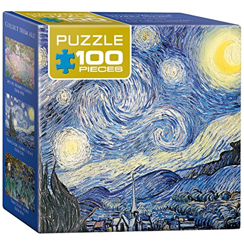EuroGraphics Starry Night by Vincent Van Gogh Mini Puzzle (100-Piece) - 1