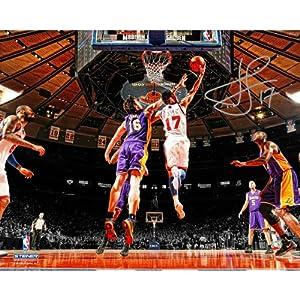 Steiner Sports NBA New York Knicks Jeremy Lin Autographed Reverse Layup vs. Gasol... by Steiner Sports