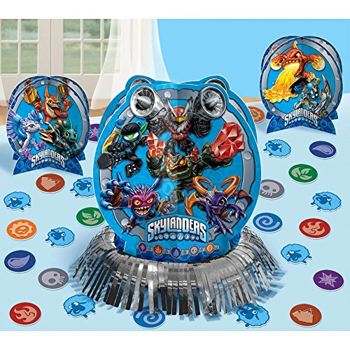 Amscan Swashbuckling Skylanders Table Decorating Kit (23 Piece), Blue, 12 1/2""