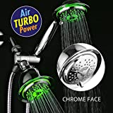 Early Bird Christmas Special - Save more than 50% on DreamSpa® All-Chrome 3-way LED Twin Shower System (LED-Shower-Head/LED Handheld-Shower) w/ Air Turbo Technology by Top Brand Manufacturer!