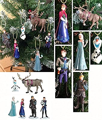 FROZEN Disney Characters set of 6 Christmas Tree Decorations