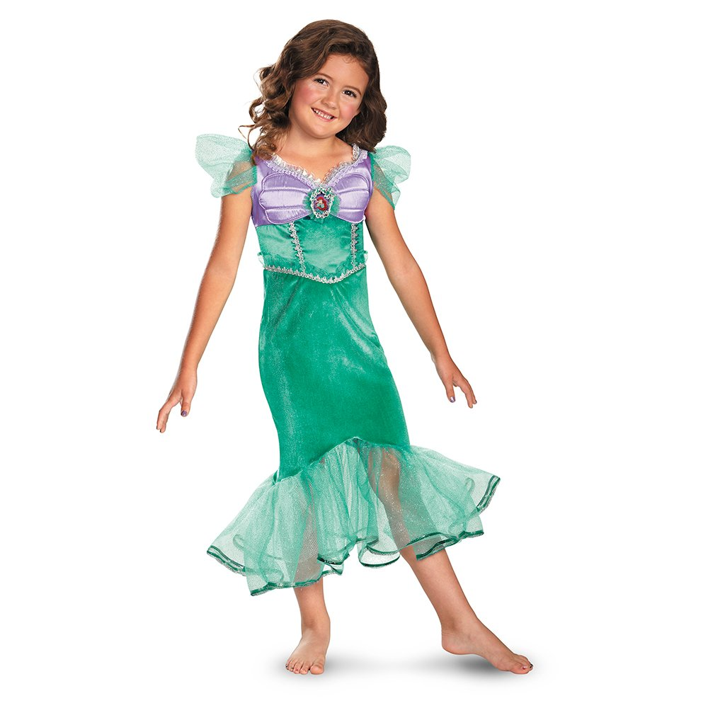 girls green and purple Ariel costume from disneys the little mermaid