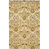 Safavieh Cambridge Collection CAM235A Handmade Moss and Multi Wool Area Rug, 5 feet by 8 feet (5' x 8')