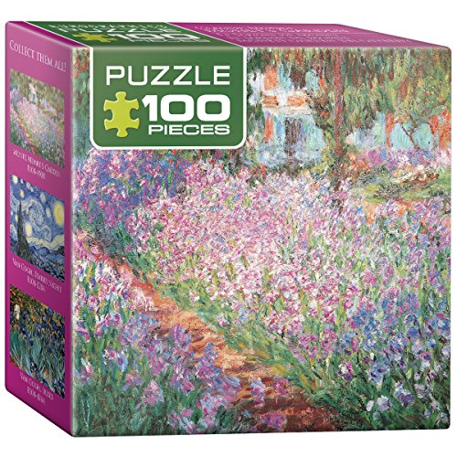 EuroGraphics The Artist's Garden by Claude Monet Mini Puzzle (100-Piece)