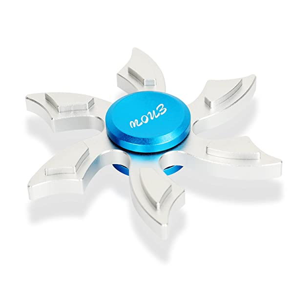 Quit Bad Habits EDC Children and Adults to Increase Concentration Newest Hands Spinner,Enow Pure Aluminum High Speed Fidget focus toys.Perfect for ADHD Spins Metal Average 1-5 Minutes