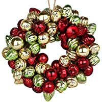 EarthenMetal Handcrafted Multicoloured (Red, Green, Golden) Decorative Glass Ball Ring (Set Of 120 Glass Balls...