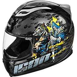 Icon Apocalypse Men's Airframe Sports Bike Racing Motorcycle Helmet - Black