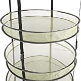 "Advanced Nutrients 3"" Thickest Best Quantity Steel Rings Foldable Heavy Duty Hanging Dryer Rack,2Feet Diameter 4 Layer Collapsible Mesh Hydroponic Drying Rack Net w/ Clips&Storage Carrying Bag"
