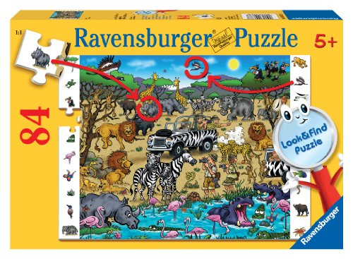 Ravensburger Safari - 84 Piece Look & Find Puzzle - 1