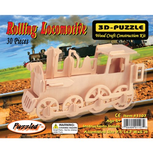 Puzzled Train 3D Jigsaw Puzzle (30-Piece), 9.5 x 3 x 5""