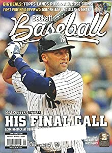 Beckett Baseball Monthly Price Guide October 2014-240 Pages Derek Jeter on Cover !