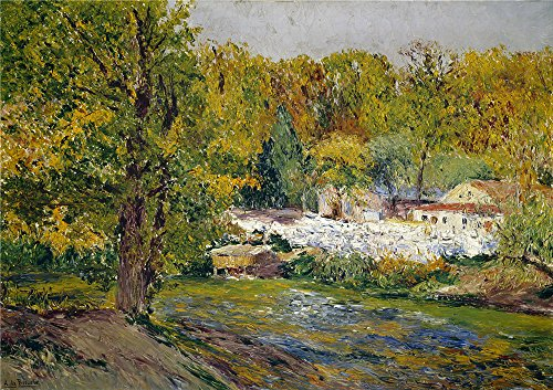 Oil Painting 'Beruete Y Moret Aureliano De Autumn Landscape (Madrid) 1910 ' Printing On Polyster Canvas , 10 X 14 Inch / 25 X 36 Cm ,the Best Living Room Decor And Home Decoration And Gifts Is This Best Price Art Decorative Canvas Prints