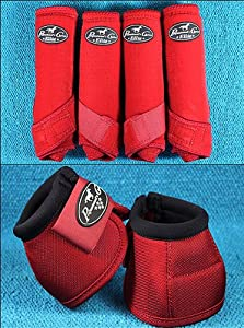 Red Large Professional Choice Sports Medicine Horse Boots Bell Ventech Elite by HILASON