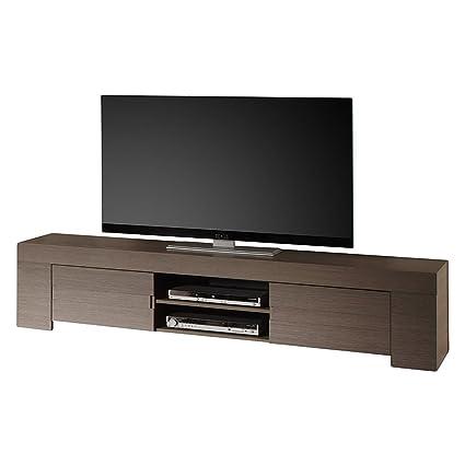 TV Schrank Eos gross mit 2 Turen, 190 x 45 x 50 cm, Eiche grau Nachbildung