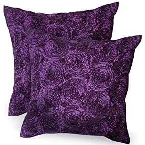 Purple Throw Pillow Cases : Amazon.com - Thaimart One Pair Decorative Throw Pillow Cases Cover Purple or for in Your Car