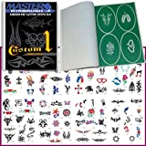 Master Airbrush® Brand Airbrush Tattoo Stencils Set Book #1 Reuseable Tattoo ...