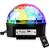 elegantstunning 85-265V Bluetooth Sound Activated 9 Colors LED Music Crystal Magic Ball Stage Light Lamp with Remote Control for Home Room Party Club Decoration US regulations (YK2227-9 Color) (Tamaño: US regulations (YK2227-9 color))