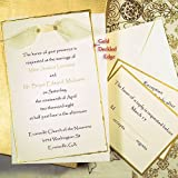 Gold Deckled Printable Invitation Kit