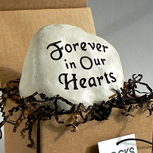 """Forever in Our Hearts"" Engraved in a Heavy little Rock"