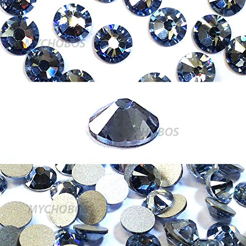 CRYSTAL BLUE SHADE (001 BLSH) Swarovski NEW 2088 XIRIUS Rose 34ss 7mm flatback No-Hotfix rhinestones ss34 18 pcs (1/8 gross) *FREE Shipping from Mychobos (Crystal-Wholesale)*