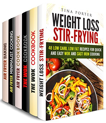 Stir and Fry Box Set (6 in 1): Over 200 Stir-Fry, Wok, Air Fryer Recipes to Spoil Your Family (Air Fryer Cookbook & Stir Fry) by Tina Porter, Carmen Haynes, Jessica Meyer, Emma Melton, Valerie Orr, Thelma Barnes