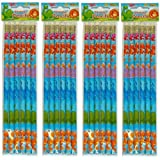 12 Dinosaur full length pencils.Eraser top.party bag fillers,teachers rewards