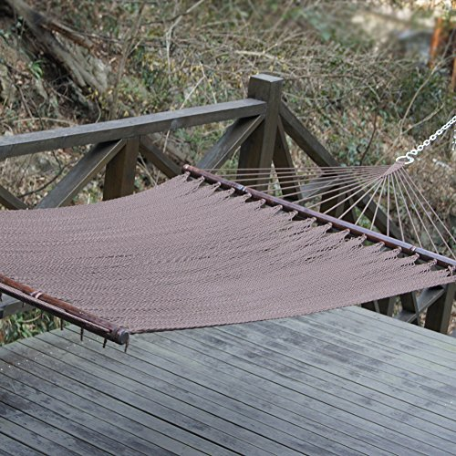 Prime Garden Two Point Tight Weave Caribbean Hammock-Mocha
