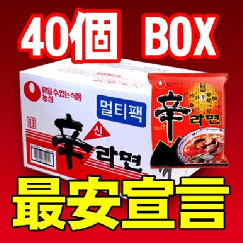 非常食品・韓国版オリジナル辛ラーメン 1BOX(40個入り)