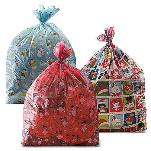Giant christmas gift bag quot with tag made