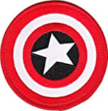 CAPTAIN AMERICA'S SHIELD PATCH, Licensed Marvel's The Avengers Comic Superhero Iron-On / Sew-On, 3