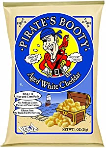 Pirate's Booty, Aged White Cheddar, 1-oz. Bags (Count of 24)