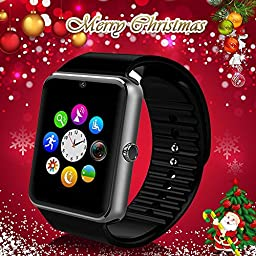 Smart Watch StarryBay Bluetooth Sweatproof Wristwatch with Touch Screen for Notification Push / Handsfree Call for Android 4.2 and Above/ Limited Function for iPhone 7.0 and Above