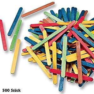 500 batons d 39 esquimaux batonnets en bois pour glace bricolage loisirs cr atifs couleurs. Black Bedroom Furniture Sets. Home Design Ideas