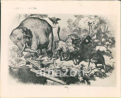 Vintage-Photo-of-Republican-Elephant-Third-Term-Panic-Reconstruction-by-Thomas-Nast-AJM-769