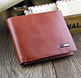 Jacentown® Hot Sale Mens Soft Leather Wallet/Purse Credit Card Holder Case Bifold Money Clip Clutch