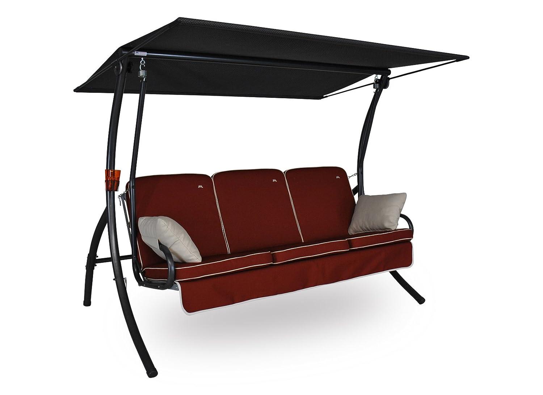 Angerer Primero Style Hollywoodschaukel Style, Terracotta, 3-Sitzer