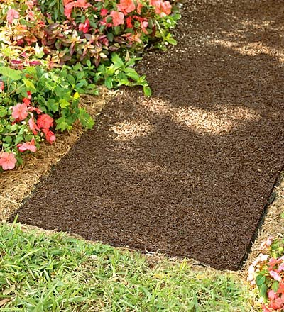 USA-Made Environmentally Friendly Perm-A-Mulch Pathway