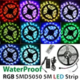 Waterproof SMD 5050 RGB LED Strip Tape Light Flexible LED Ribbon 5 Meters / 300 LED