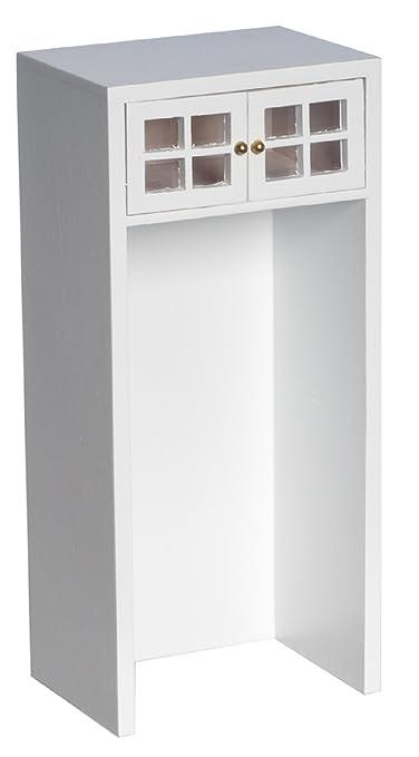 Poupées Maison De Meubles De Cuisine Miniature Blanc Unité d'armoire pour frigo 5435