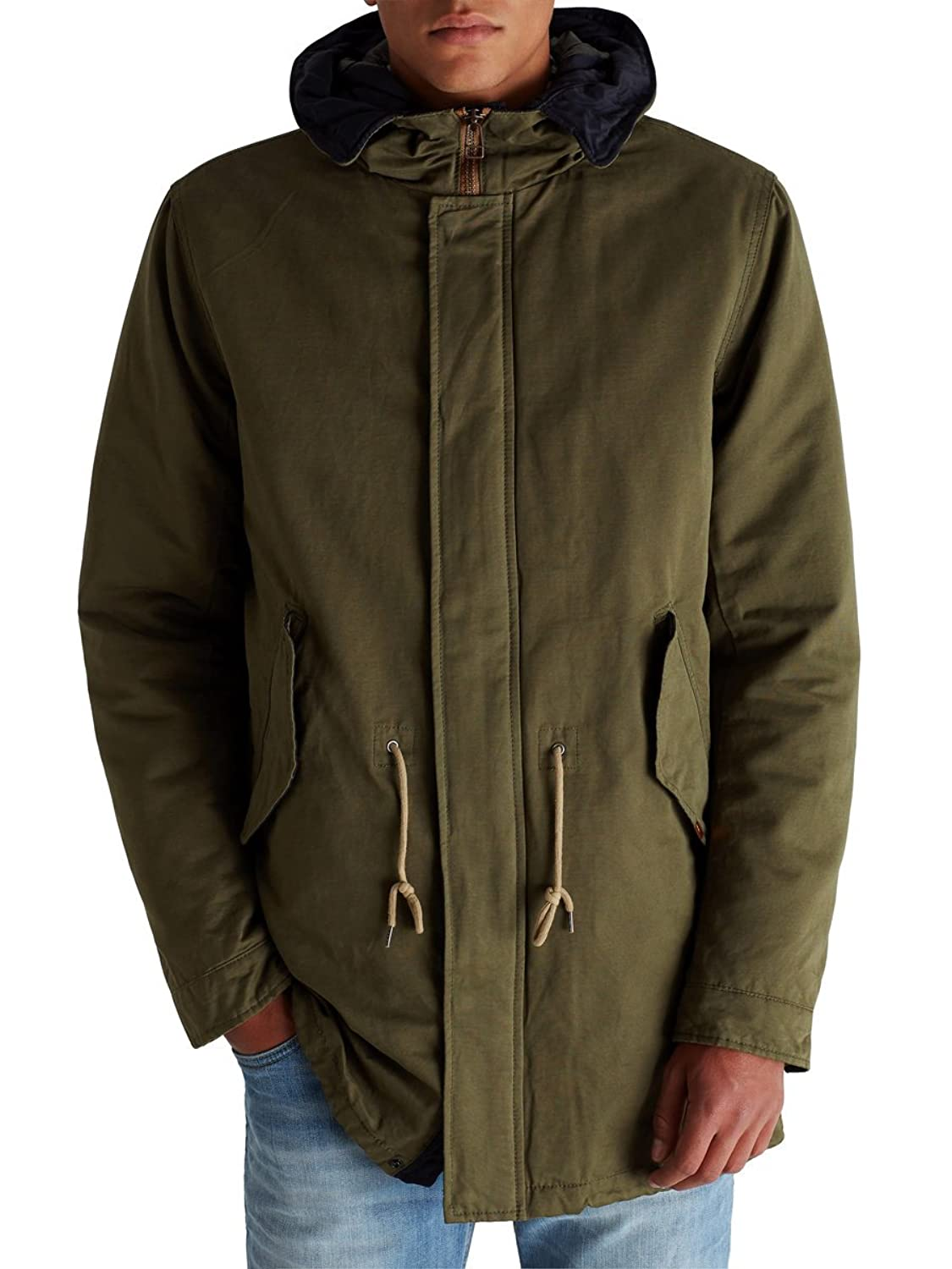 JACK JONES - Men's hooded jacket craig parka xxl olive green