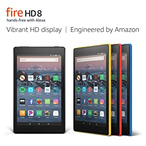 Fire HD 8 Tablet (8 HD Display, 32 GB, Red) with Amazon Smart Plug (Color: Punch Red)