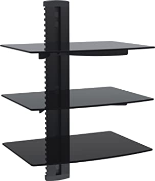 Amazon.com - Mount-It! Wall Mounted AV Component Shelving System ...