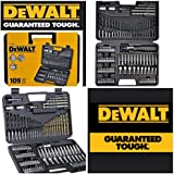 DEWALT ACCESSORIES 109 PIECES FOR STEEL,WOOD,MASONRY,RATCHET SCREWDRIVER ,PLUS MANY MORE,IN A DEWALT CARRYING CASE